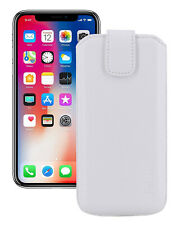 """IPHONE 11 pro 5.8 """" Leather Cover Case Protection Cover in White + Silicone Case"""