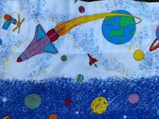 (2) Kids Outer Space Curtain Valances & (3) Bespoke Astronaut Bunk Bed Curtains