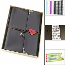 "Scrapbook, ""Love"" Vintage Leather Photo Album Book, Retro Baby Memory Book,"