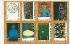 BRAZIL 1998 BIENAL ART SAO PAULO SHEET OF 8 STAMPS MINT NEVER HINGED VF