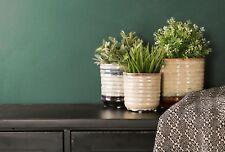 Set of Three Ceramic Plant Pots Planter Flower Garden Indoor Home Glazed Gift