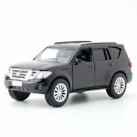 Nissan Patrol Y62 SUV 1:36 Scale Model Car Gift Diecast Toy Vehicle Kids Black