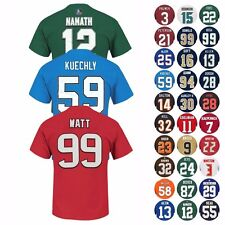 """NFL """"Eligible Receiver"""" Player Name & Number Jersey T-Shirt Collection Men's"""
