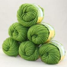 Sale Quick Hand Knit Yarn Soft Worsted Wool Silk Shawls Lot 6 Skeins x50g 20