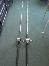 2 Vintage Fluke Fishing Rods and Penn Reels Pole