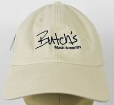 Butch's Beach Burritos Beige Baseball Hat Cap fitted size Small 6 3/4-7 1/8