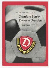 Orig.PRG   UEFA Cup 80/81   DYNAMO DRESDEN - STANDARD LÜTTICH  1/8 Finale !! TOP