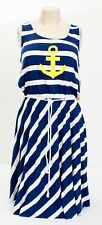Sperry Top-Sider Blue Stripe What Anchors You Crossback Cover Up Dress Women's