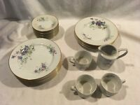 23 Count 1922 Vintage Decors de France Tour Eiffel Tea Set Dinnerware RARE SET