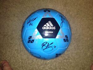 New England Revolution Team Autographed Adidas Soccer Ball 2016   COA