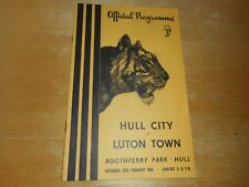 HULL CITY  v  LUTON TOWN  1953/4  ~ FEBRUARY 27th  VINTAGE  *****FREE POST*****
