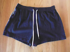 LADIES CUTE BLUE WITH WHITE STRIPE COTTON SHORTS BY TARGET - SIZE 12 - CHEAP