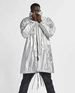 Nike x Fear of God NRG Parka Metallic Silver Jacket AR0646 095 Men's Size XXL