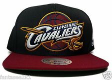 Cleveland Cavaliers Mitchell & Ness Black Red STA3 XL Logo Wool Snapback NBA