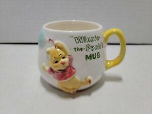 "Vintage Winnie The Pooh Mug Small Child's Cup 3D Walt Disney Productions 3"" 1964"