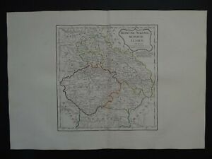 1806 Vaugondy Delamarche Atlas map  BOHEMIA - SILESIA - MORAVIA - Czechia Poland