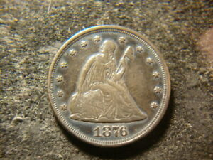 1876 XF AU Details Twenty Cents 20 Cent Piece Nice Looking Liberty MSX