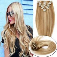 Brazilian 100%Remy Human Hair Clip In Hair Extensions Full Head Highlight thick