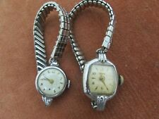 Two Vintage Wristwatches For Spares / Repairs, Stainless Steel Stretch Bracelet