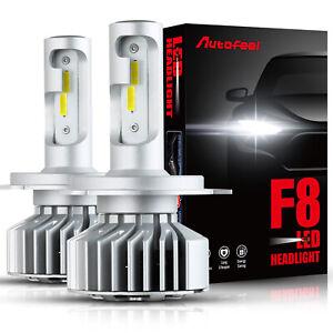 Auto 2X H4 9003 HB2 LED Headlight Kit Bulbs Light Hi/Lo Beam Lamps 6000K White