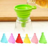 Liquid Transfer Collapsible Foldable Silicone Funnel Hopper Kitchen Tool Gadget