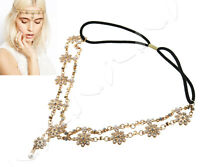 Head Chain Women Fashion Metal Rhinestone Jewelry Headband Wedding Hair Band