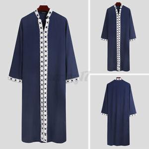 Vintage Islamic Clothing Men's Muslim Kaftan Kurta Thobe Saudi Arab Jubba Tunic