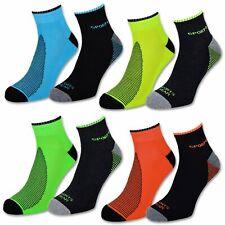 4 | 6 | 12 Paar Sneaker Socken Herren Damen Sport Socken mit Frotteesohle NEON