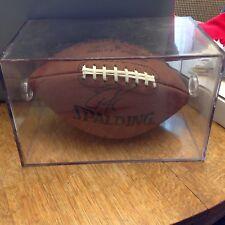 Errict Rhett Autograhed Football in Protective Case COA