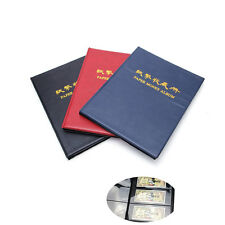 60 Paper Money Note Holders Collection Collecting Album Book Storage Pockets New