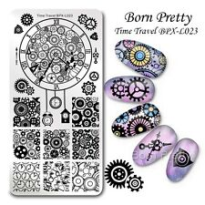 Nail Art Stamping Plate Time Travel Theme Manicure Template Stencil BPX-L023