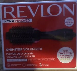 Revlon PRO Collection Salon One Step Hair Dryer and Volumizer Brush Pink --- New