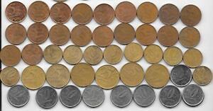 Dealer Flea Market Old World Coins 45 Brazil Brazilian 5, 10, 20 & 50 Centavos