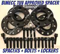 Alloy Wheel Spacers 10mm / 12mm Bmw 1 2 3 4 5 SERIES M14X1.25 + Lockers B Bimecc