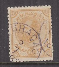 CURACAO, 1886 perf. 12 1/2 x 12, 12 1/2c. Yellow, used.
