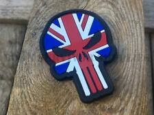 UNION JACK PVC PUNISHER PATCH - British Flag Morale Tactical Airsoft Skull Badge