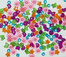 1/2 Pound - Multi Shapes colors pony beads for bird toys crafts rave jewelry