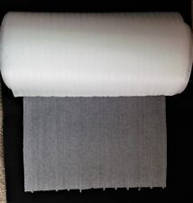"""12 Inch Wide x 50 Feet Long Roll of 1/32"""" Perforated Ribbed Packing Foam - NEW!"""