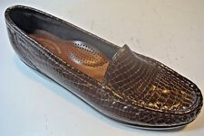 SAS Brown Leather Moccasins Loafers Flats Shoes Size 6 S Slim Narrow N @ cLOSeT