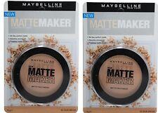 2 x Maybelline Matte Maker Powder 50 Sun Beige 16g 100% Brand New