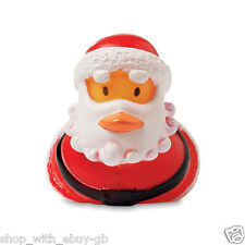 4 Rubber Floating Duck Father Christmas Novelty Gift Stocking Filler Santa Claus