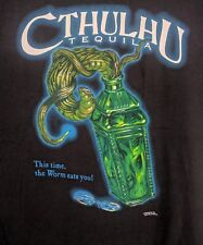 "Cthulhu Tequila Vintage Tshirt ""This Time the Worm Eats You!"" Xxl Cthulu"