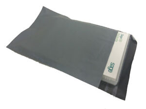 """*REDUCED* Grey CoEx Mailing Bags 10 x 14"""" (250 x 350mm) Perm Seal (pack 1000)"""