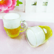 Unisex Resin Beer Cups Key chain Key Rings Creative Interesting Gift Keychain