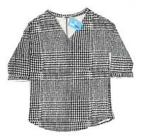 F&F Black Houndstooth Womens Top Size 14 (Regular)