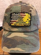 8dde363daf3 Port Authority C851 Military Camouflage Cap w  Distressed American Flag  GADSDEN
