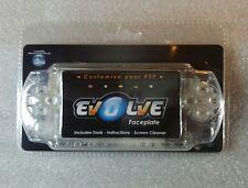 Facade de remplacement Blanc Transparent Evolve pour Console PSP Neuf / New