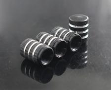 Black Aluminum Alloy Tire Valve Stem Cap 4PCS For Auto-Car-Truck-Bike
