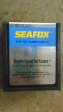 Commodore 64/128 SEAFOX 64 Cartridge Videogame TESTED Works Broderbund