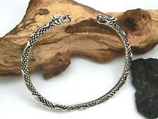 Drache Drachen Armreif Armspange 925 Silber Armband LARP Wikinger